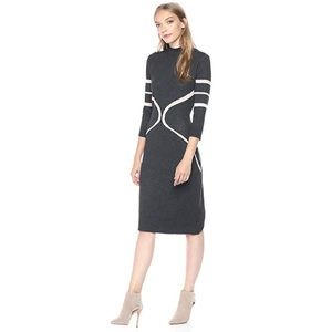 Gabby Skye Graphite High Neck Sweater Dress NWT XL